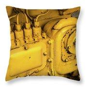 Caterpillar D2 Bulldozer 06 Throw Pillow
