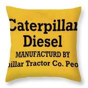 Caterpillar D2 Bulldozer 08 Throw Pillow