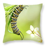 Caterpiller On Plant Throw Pillow