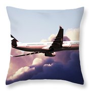Cathay Pacific Airbus A330-343 Throw Pillow