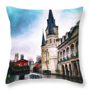 Cathederal From Side Throw Pillow
