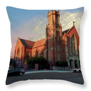 Cathedral At Dawn Throw Pillow