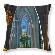 Cathedral Columns Of The St. Johns Bridge Throw Pillow