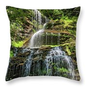 Cathedral Falls 4 - Paint Throw Pillow