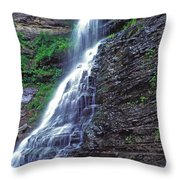 Cathedral Falls In Spring Throw Pillow
