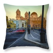 Cathedral From Campo Del Sur Cadiz Spain Throw Pillow