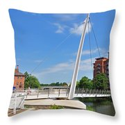 Cathedral Green Bridge At Derby Throw Pillow