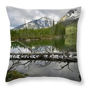 Cathedral Group Reflection On String Lake Throw Pillow