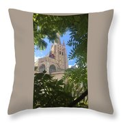 Cathedral In Brugge Throw Pillow