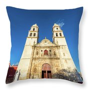 Cathedral In Campeche Throw Pillow