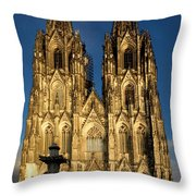 Cathedral In Cologne  Throw Pillow