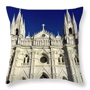 Cathedral In El Salvador Throw Pillow