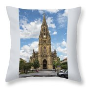 Cathedral In San Sebastian Is The Largest Religious Structure In The Basque Country Throw Pillow