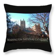 Cathedral In The Fall Travel Throw Pillow
