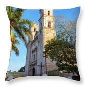 Cathedral In Valladolid Throw Pillow