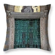 Cathedral Of Amalfi Door Throw Pillow