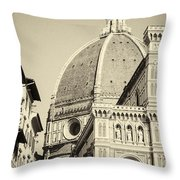 Cathedral Of Brunelleschi In Florence Throw Pillow