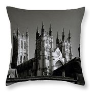 Cathedral Of Canterbury Throw Pillow