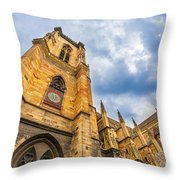 Cathedral Of Colmar, Alsace,france Throw Pillow