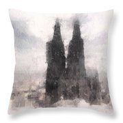 Cathedral Of Cologne Throw Pillow