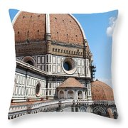 Cathedral Of Florence Throw Pillow