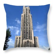 Cathedral Of Learning Throw Pillow