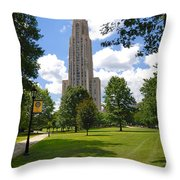 Cathedral Of Learning University Of Pittsburgh Throw Pillow
