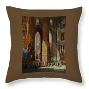 Cathedral Of San Miguel Throw Pillow