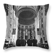 Cathedral Of St. John In Nyc Throw Pillow