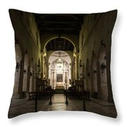 Cathedral Of Syracuse - Duomo Di Siracusa - An Ancient 2500 Years Old Greek Temple Throw Pillow
