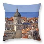 Cathedral Of The Assumption Of The Virgin In Dubrovnik Throw Pillow