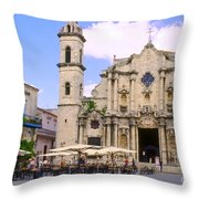 Cathedral Of The Virgin Mary Of The Immaculate Conception Throw Pillow