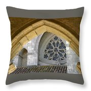 Cathedral On The Saint James Path  Throw Pillow