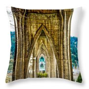 Cathedral Park Throw Pillow