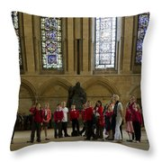 Cathedral People Throw Pillow