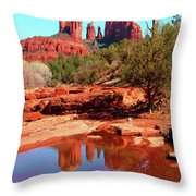 Cathedral Reflections Throw Pillow