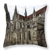 Cathedral Regensburg Throw Pillow