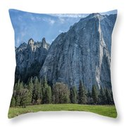 Cathedral Rock And Spires Throw Pillow