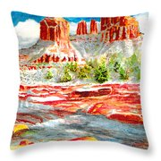 Cathedral Rock Crossing Throw Pillow