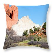 Cathedral Rock In Garden Of The Gods Park Throw Pillow