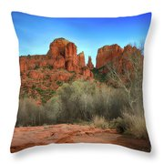 Cathedral Rock In Sedona Throw Pillow
