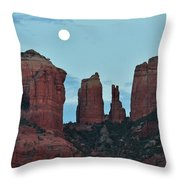Cathedral Rock Moon 081913 E2 Throw Pillow