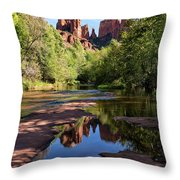 Cathedral Rock Of Sedona Throw Pillow
