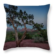 Cathedral Rock Overview Throw Pillow by Gary Lengyel
