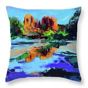 Cathedral Rock - Sedona Throw Pillow