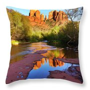 Cathedral Rock Sedona Throw Pillow by Matt Suess