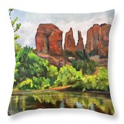 Cathedral Rocks In Crescent Moon Park Throw Pillow