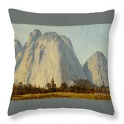 Cathedral Rocks  - Yosemite Valley Throw Pillow