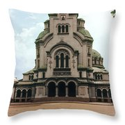Cathedral Saint Alexandar Nevski Throw Pillow