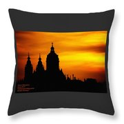 Cathedral Silhouette Sunset Fantasy L A Throw Pillow